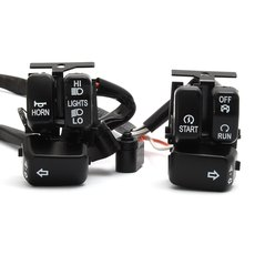 Handlebar Wiring Harness 60 w. black Switches HD 96up