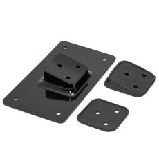 License Plate Mount Lay Down Type black
