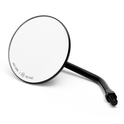Custom Mirror round 4 black with E-mark, for Japanese Motorcycles