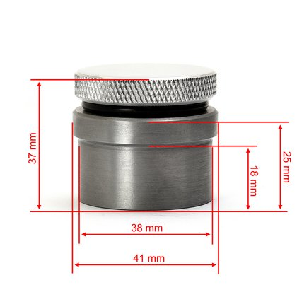 Aluminium Gas Cap vented with knurl and inlet, 32,95 €