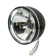 5.5  Headlight Grooved with LED parking light, side-mount...