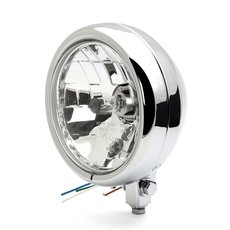 5 3/4 headlight Tracker chrome clear lens