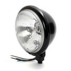 "Motorcycle Bates Style 4-1//2/"" Black Bottom Mount Headlight Spot Light Custom"