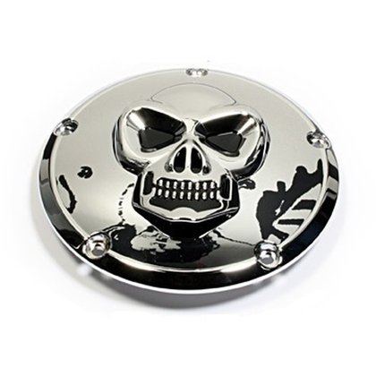 Skull Derby Cover - Harley Twin Cam