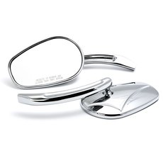 Twin Cam Style Custom Mirrors Chrome, Set