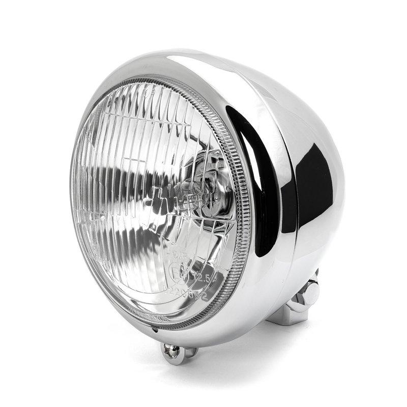 215455 Motorrad Scheinwerfer Lampenhalter mattschwarz 53-57mm //Paar
