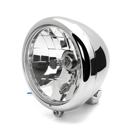 5 3/4 Headlight Springer Chrome Clear Lens