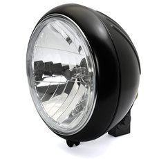 7 Headlight 88up Style clear lens black grooved, ECE