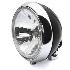 7 Headlight 88up Style clear lens black chrom grooved