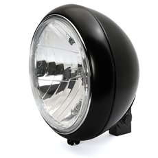 7 Headlight 88th Style clear lens black