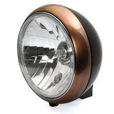 7 Headlight 88up Style clear lens black copper