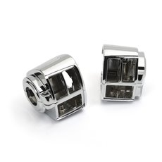Chromed Switch Housing Set Harley-Davidson® 82  -95