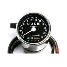 Mini-Speedo 60 mm with LED Control Black Face