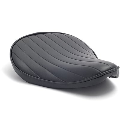 Solo Seat Small Black Extra Thin Tuck & Roll