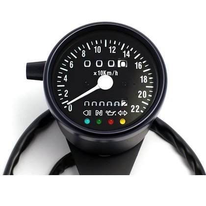 Mini-Speedo 60 mm Black with LED Control Black Face