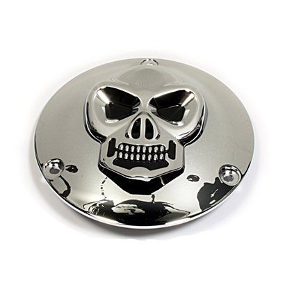 Kupplungsdeckel Skull Derbycover - Harley Evo, Shovel Big Twin